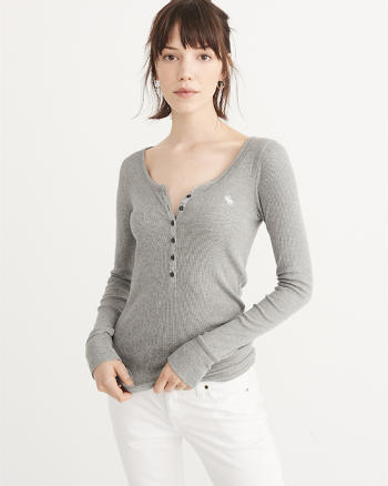 ANF Long-Sleeve Icon Henley