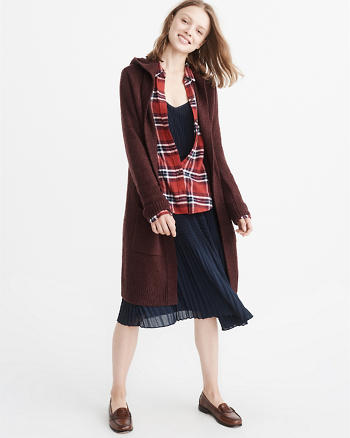 ANF Long Hooded Cardigan