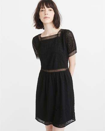 ANF Short-Sleeve Lace Dress