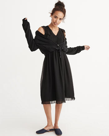 ANF Ruffle Midi Dress
