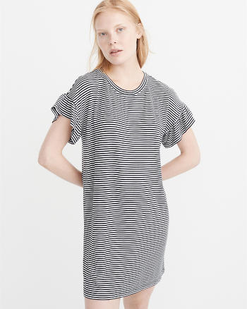 ANF Ruffle Sleeve Knit Dress