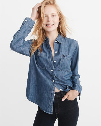 ANF Icon Denim Shirt
