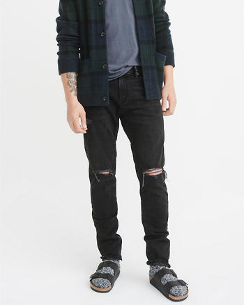 ANF Ripped Athletic Slim Jeans