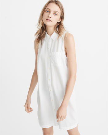 ANF Sleeveless Shirt Dress