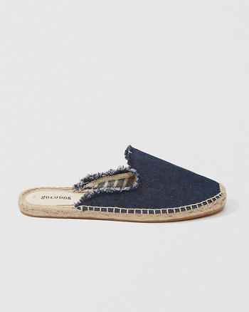ANF Soludos Frayed Mule Espadrille