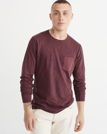 ANF Garment Dye Long-Sleeve Tee