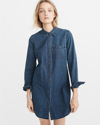 ANF Denim Shirt Dress