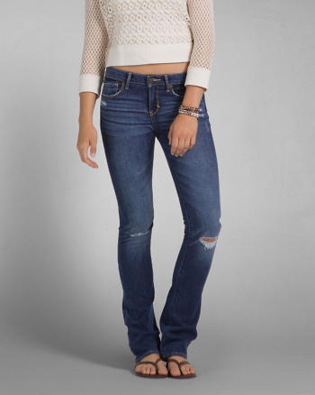ANF A&F Zoe Boot Mid Rise Jeans