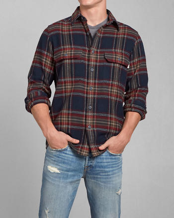 ANF Woolrich with A&F Signature Flannel Shirt