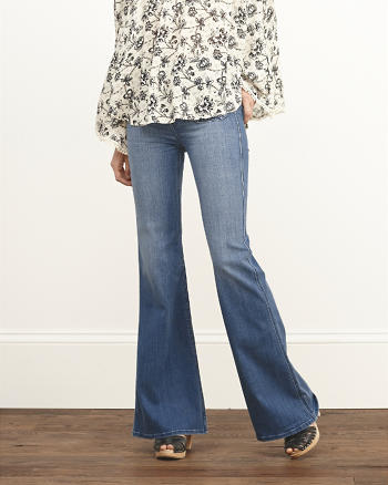 ANF High Rise Flare Jeans
