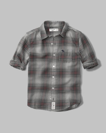 kids cozy plaid shirt