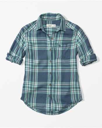 kids plaid twill shirt
