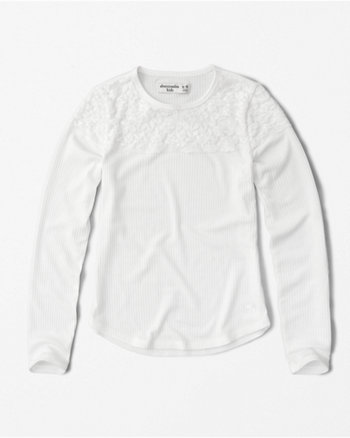 kids lace long-sleeve tee