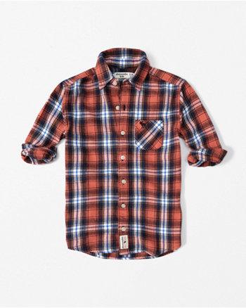 kids long sleeve flannel shirt