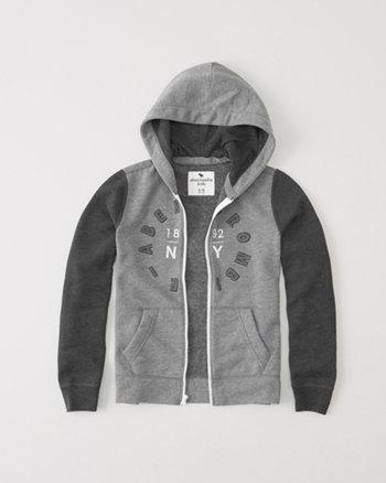kids logo full zip hoodie