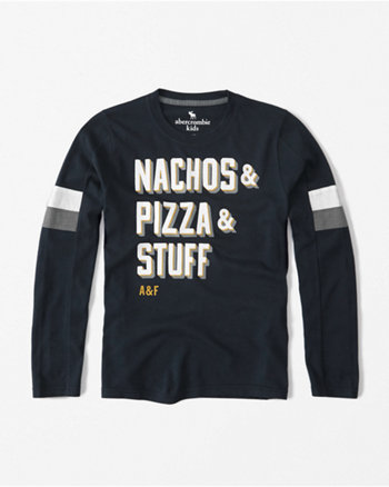 kids long-sleeve logo graphic tee