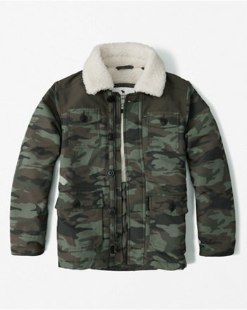 kids sherpa collar jacket
