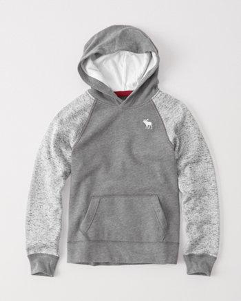kids icon raglan fleece hoodie