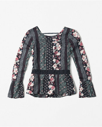 kids lace boho top