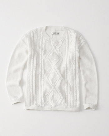 kids fringe pullover sweater