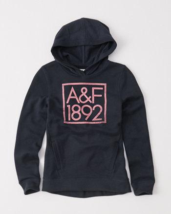 kids logo popover hoodie
