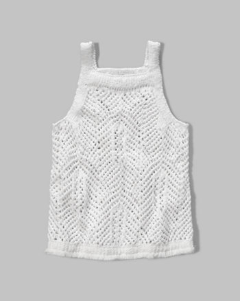 kids knit fringe sweater tank