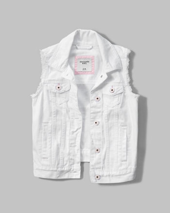 kids denim vest