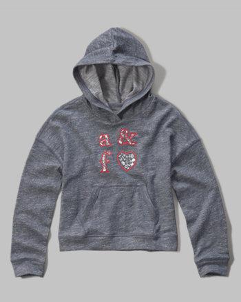 kids logo graphic poncho hoodie
