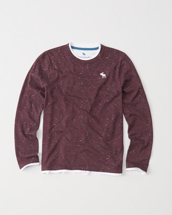 kids long-sleeve twofer tee