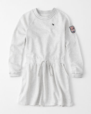 kids sporty fleece dress