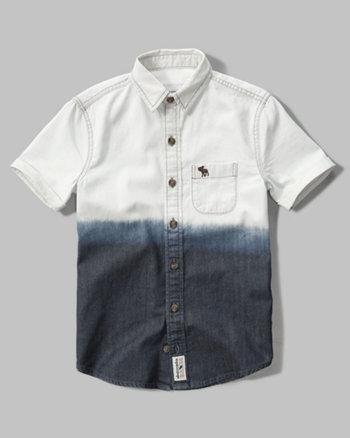 kids short sleeve denim shirt
