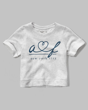 kids logo graphic crew sweatshirt