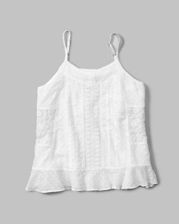 kids mixed lace cami