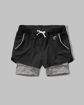 kids a&f sport layered shorts