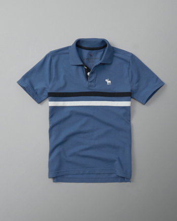 kids chest stripe icon polo
