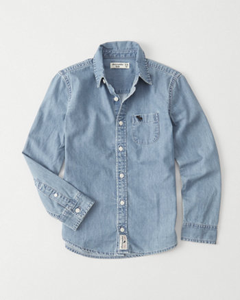 kids Long Sleeve Denim Shirt