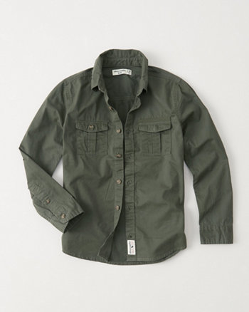 kids Military Twill Shirt