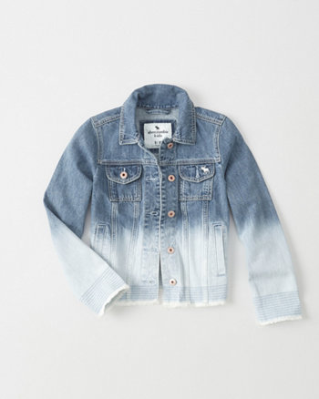 kids Dip Dye Denim Jacket