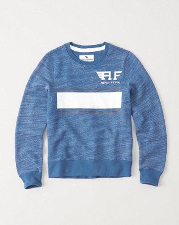 kids Textured Logo Crew Sweatshirt