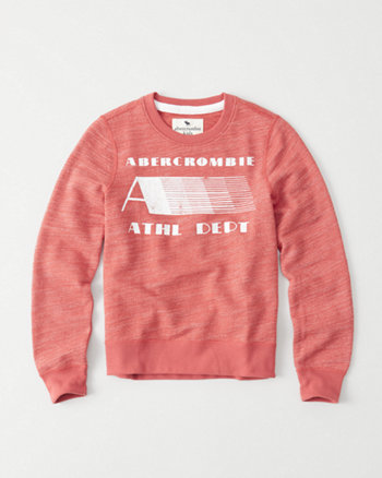 kids Textured Logo Crew Sweatshirt