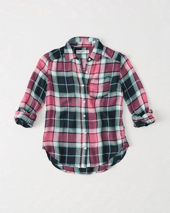 kids Plaid Girlfriend Shirt