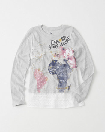 kids Graphic Lace Tee
