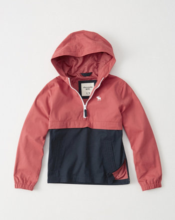 kids Nylon Half-Zip Jacket