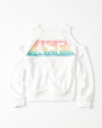 kids graphic cold shoulder sweatshirt