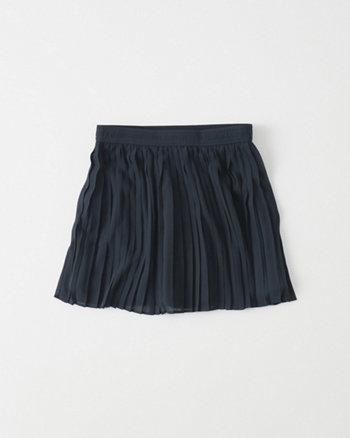 kids Pleated Chiffon Skirt