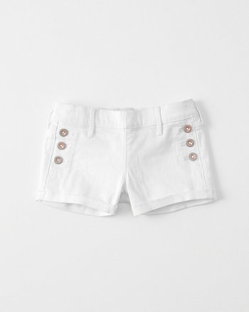 kids Sailor-Button Shortie Shorts