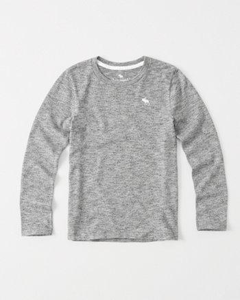 kids Long-Sleeve Sweater Knit Tee