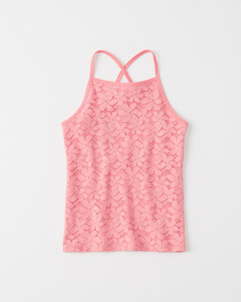 kids Fitted Lace Tank