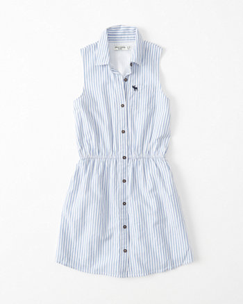 kids Sleeveless Shirtdress