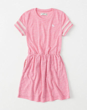 kids shine-sleeve t-shirt dress